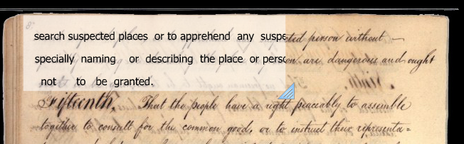 Screen Shot of Manuscript Interface